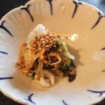 月見里 - 烏賊と野菜の胡麻酢和え