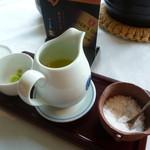 杜氏賛歌 - 洞爺の海より淡雪塩、山葵、オリーブオイル