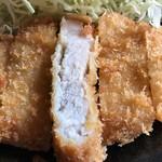 集楽亭 - とんかつ定食(並)¥1200 の 断面