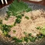 博多かわ屋 - 胡麻鯖は汁気がない。