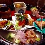 九州の旬 博多廊 - ◆花籠・・いろんなお料理が少しずつ盛られ、彩も美しいこと。