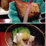 九州の旬 博多廊 - ◆上:まとう鯛のみそ焼き。味噌のお味もよく美味しい。 ◆下:烏賊の酢味噌和え