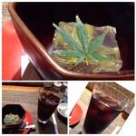 九州の旬 博多廊 - ◆会員登録(無料)していると頂けるデザート。 ◆ドリンクは選べますので「アイスコーヒー」を。