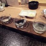 魚食家 きんき - 日本酒飲み比べ