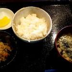 71353973 - 金目鯛煮付け定食のご飯とカジメのお吸い物