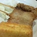 七津屋 - 牛       豚       チーズ