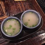 村崎焼鳥研究所 - 締めのスープです。