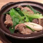 魚とお酒 ごとし - 牛すじと九条葱の旨煮