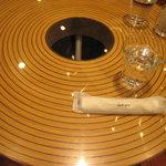 7136411 - バームクーヘン型のテーブル