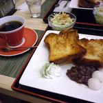 和風カフェ 次元 - 小倉白玉トーストセット:780円