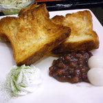 和風カフェ 次元 - 小倉白玉トースト(デニッシュトースト)