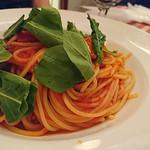71360340 - トマトとルッコラのスパゲッティー