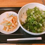 銀座木挽町うどん 太常 - 九条ねぎうどん 大盛り \550 いんげんの天ぷら \150