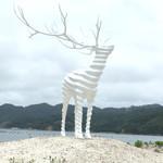 BEARD - リボーンアートフェスティバル 名和晃平さんの『White Deer(Oshika)』