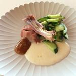 BEARD - 鹿肉と胡瓜の前菜