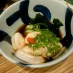 ふぶき - ふぐの白子ぽん酢:390円