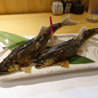 柳家錦 - 料理写真:和良川の天然アユも大きくなってきました