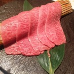 ヤキニク旭 - 170809コース12500円和牛ミスジの出汁おろし