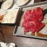 ヤキニク旭 - 170809コース12500円和牛サンチェ包み