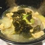 Bar ぼうずママ - マンドゥック(韓国風スープ餃子) (780円)
