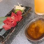 国産黒毛和牛 炭火焼肉 喜楽 - 生ギモ