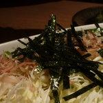 東京庵 - キャベツサラダごま油ドレッシングでさっぱり
