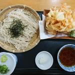 十割そば 悠楽 - 料理写真:2017年8月 更科 かき揚天ざる 900円