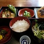 九州郷土料理 赤坂有薫 - 8月某日の限定日替わり定食 2017.8