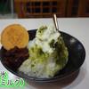寿命そば - 料理写真:抹茶かき氷(SNSで、ミルクかけ放題サービス)