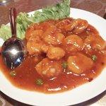 中国料理 華龍 - むきえびのチリソース(干焼蝦仁)