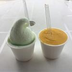 岩田商店 - 塩アイスとマンゴーシャーベット