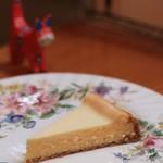 ティールーム 霧笛 - 酉子夫人オリジナルレシピのチーズケーキ