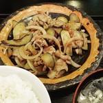 凛華 - 豚肉と茄子の塩味炒め。‼