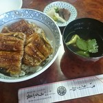 うな長 - 料理写真:うなぎ丼二段肝吸い付 特 2,500円