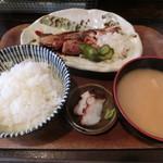 どまん中 - ワラサ照焼定食780円
