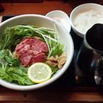 71388785 - 松坂牛麺 1,080円と温玉ご飯 320円