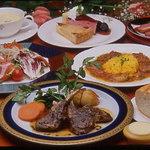 プティ・ホテル セ・ボン - フルコースコース料理の一例