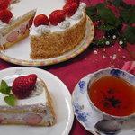 プティ・ホテル セ・ボン - 苺のショートケーキ(季節によりフルーツは変わります)