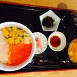 女川海の膳ニューこのり - 海鮮三色丼