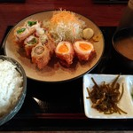 71391381 - 日替わりランチ:肉野菜巻き揚げ定食