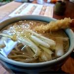 守破離 - 天ぷらがうかぶ温蕎麦