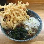 石かわ - ・「天ぷらそば&かやくご飯セット(¥500)」のそば。