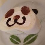 リーム - パンダロールケーキのアップ、けっこう分厚いの