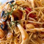 ファッティーズ - 魚介のスパゲティー(トマトソース)