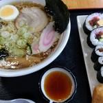 さくら寿司 - 料理写真:2017.08 ☆ラーメン寿司セット\670