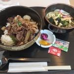和楽園 - 淡路牛丼和楽御膳(1,600円)_2017年7月