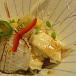 ひらまつ - 料理写真:前菜 チダイとキスの生湯葉カルパッチョ風