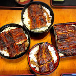 炭火焼うなぎ 東山物産 - 4種類の大きさの違いを見て!