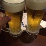 71418617 - 生ビールでカンペー\(^o^)/