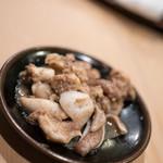 うを徳 - 2017.8 明石星鰈3.1キロ 内臓(肝、心臓、胃袋、腸)ソテー